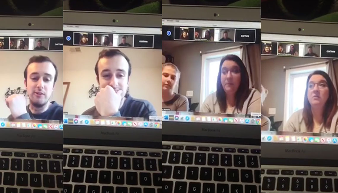 Joplin HS Show Choir Leadership Board meets via Zoom to discuss upcoming items including online show choir auditions.