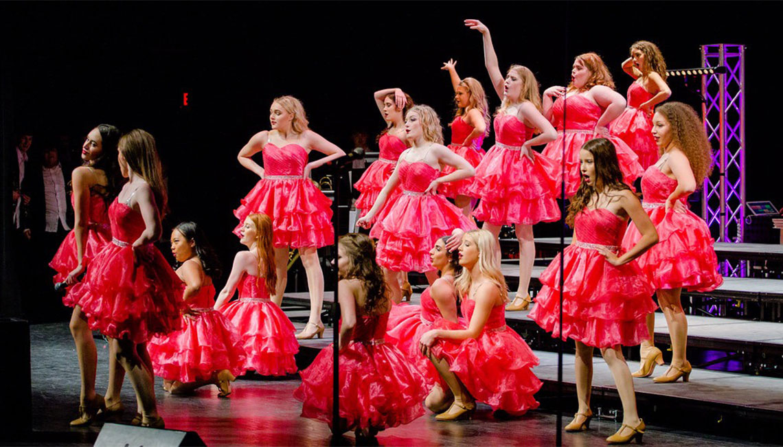 Joplin HS has two competitive show choirs that travel to contests throughout the winter months.